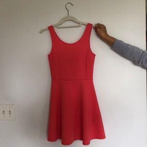 Coral Mini Skater Dress